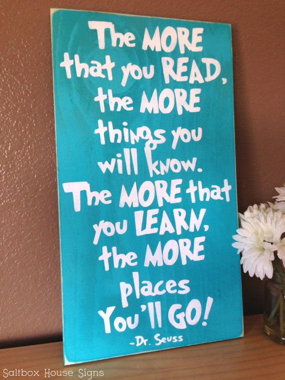 Dr. Seuss!  #reading #etsy #woodsign