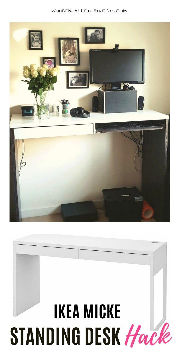 Ikea Hack Standing Desk In 2020 Ikea Hack Ikea Standing Desk Furniture Makeover Diy