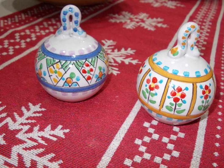 Palle di Natale in ceramica