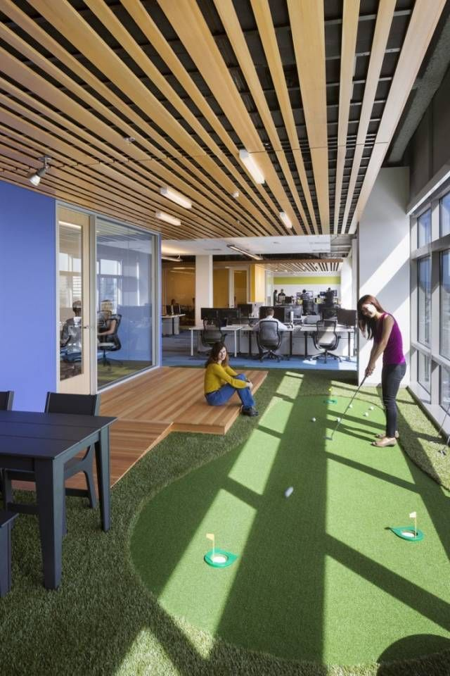 Office Putting Mini Golf Course 10 Creative Office Space Design Ideas Creative Office Space Office Space Design Silicon Valley Office