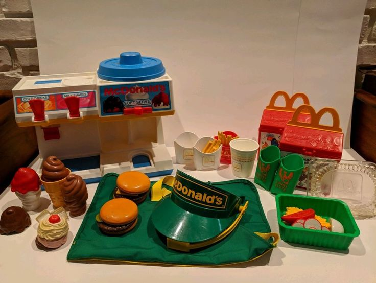 Fisher price mcdonalds lot ice cream apron and more