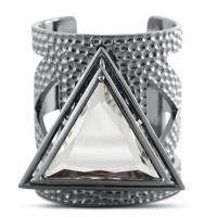 Lotus Mendes Solid Ground Cut Out Cuff - Gun Metal