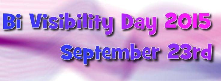 Bi Visibility Day 2015