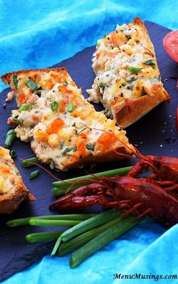 Cajun Crawfish Bread... Just mix-spread-bake your way to this amazingly simple, fast, and delicious appetizer!  Step-by-step photo tutorial.