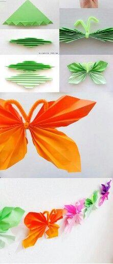 Papieren vlinder