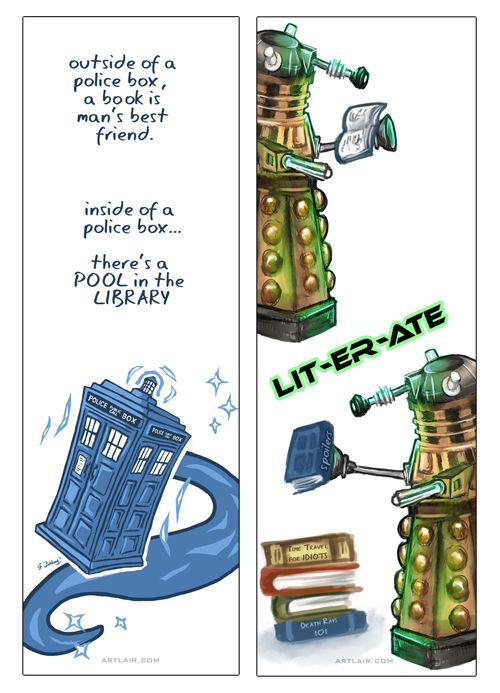 Doctor Who Bookmarks by ~rynkitty on deviantART