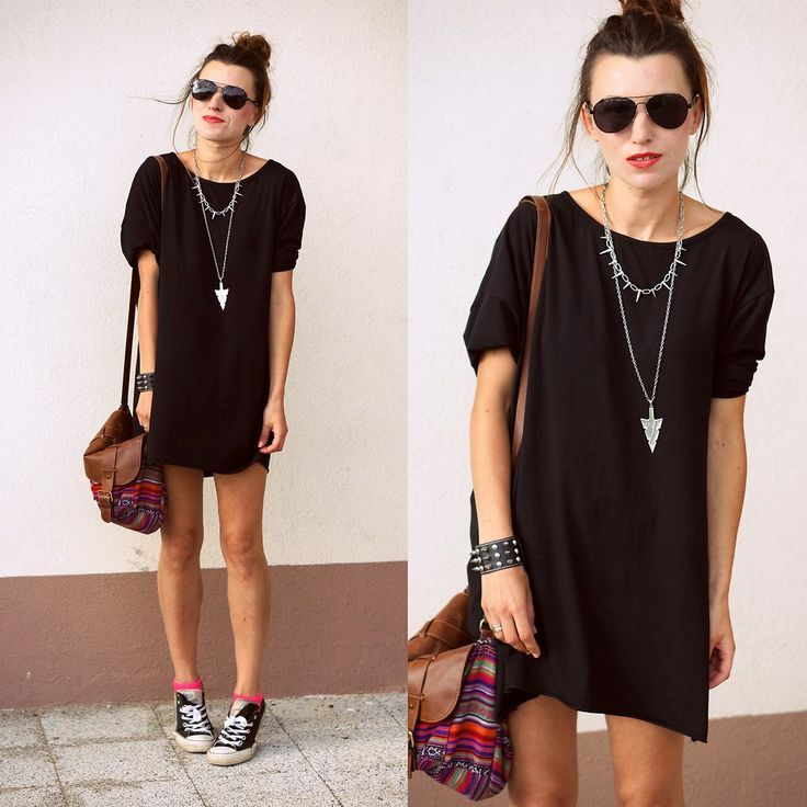 Black t shirt outfit tumblr