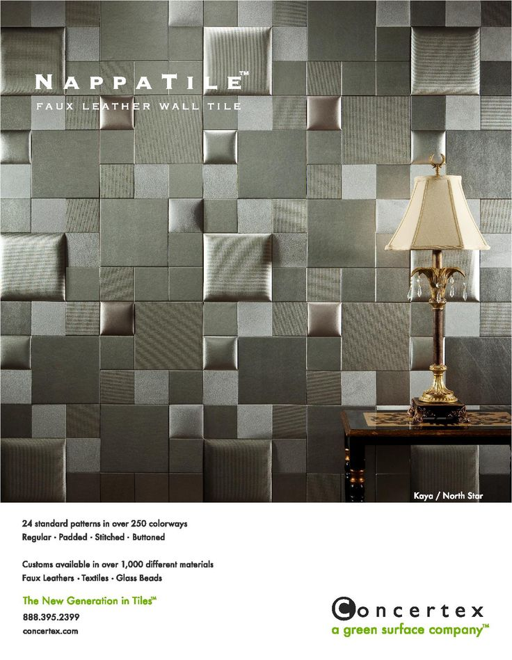 Interior Design Magazine print ad--- This would be great for an acoustic wall