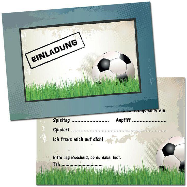 einladungskarten kindergeburtstag - fußball - einladung