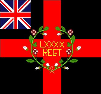 Regimental Colour-  The 89th Regiment of Foot- 2nd Battalion in Halifax from October 1812 and the Canadas from June 1813 to July 1815