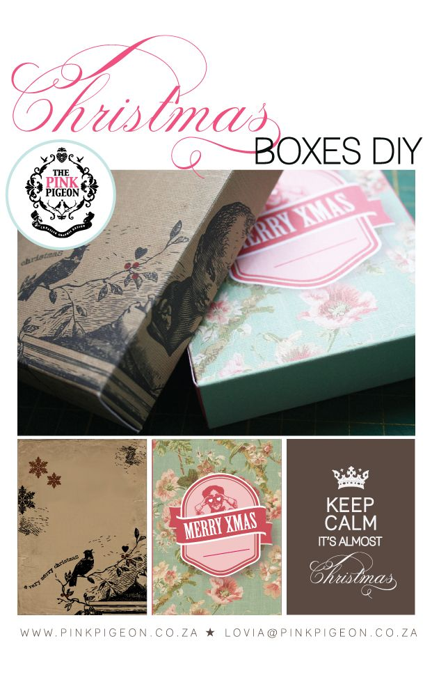 Printable gift boxes ... unusual and a great back-up for a last-minute gift!