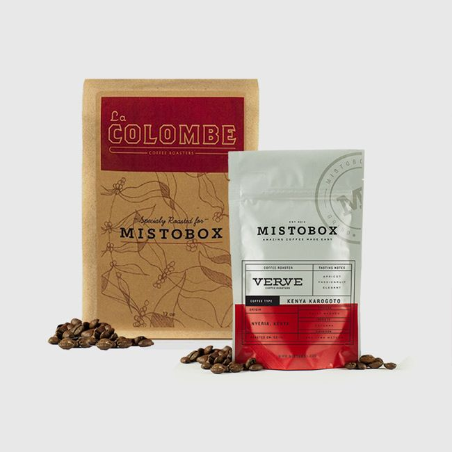 MistoBox.com A coffee subscription box!!! This is right up my alley and would make an awesome gift! $19/mo for four different kinds of coffee customized by my preferences.  Sweet!