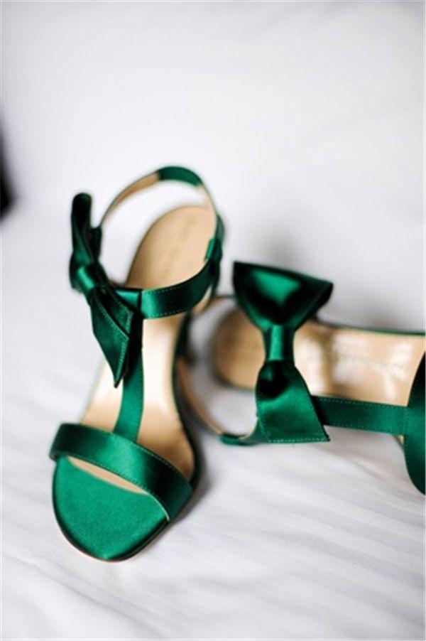 chaussures ete verte emeraude  - oo la lah