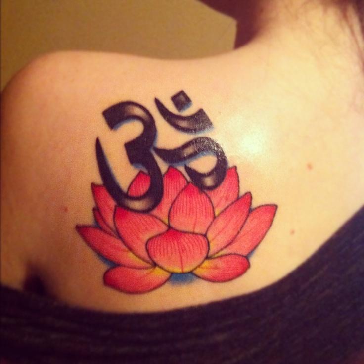 Om Symbol Amp Lotus Flower I Want This Tatoo