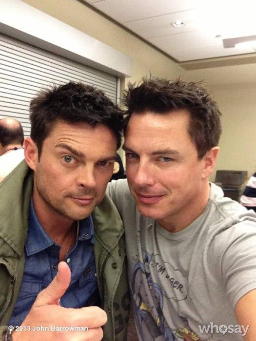 Karl Urban and John Barrowman - head exploding! On the blog 12.2.13 #MENday!