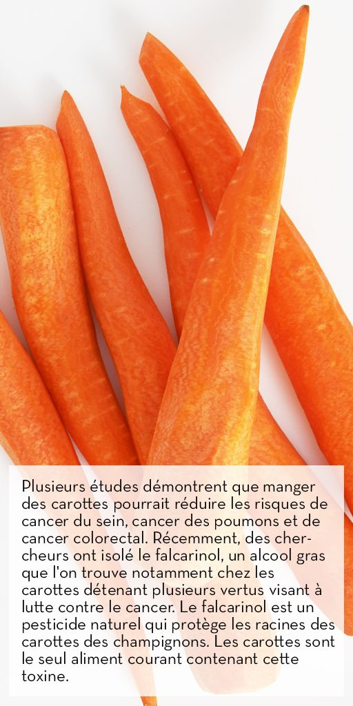 Un autre bienfait des carottes : elles peuvent prévenir le cancer. Source : ehealthzine.com