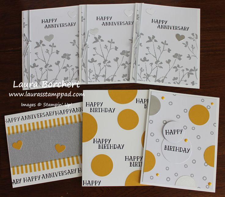 2017   December 2016 Paper Pumpkin Kit – Another Great Year!!!        Anniversary Cards, www.LaurasStampPad.com
