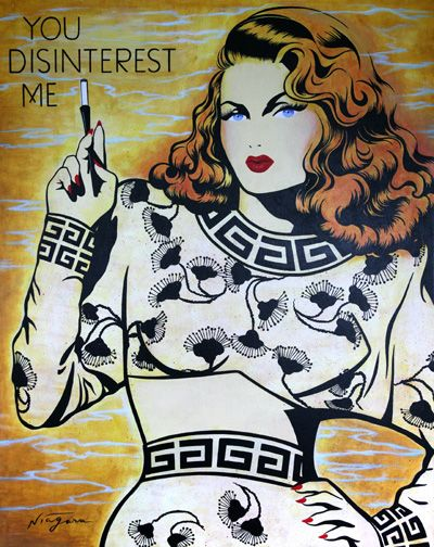 """Comic Girls Say.. """"You Disinterest Me """" #popart - Night Gallery: New Work by Niagara Detroit"""