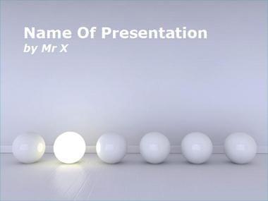 Modèle Powerpoint Boule de lumière