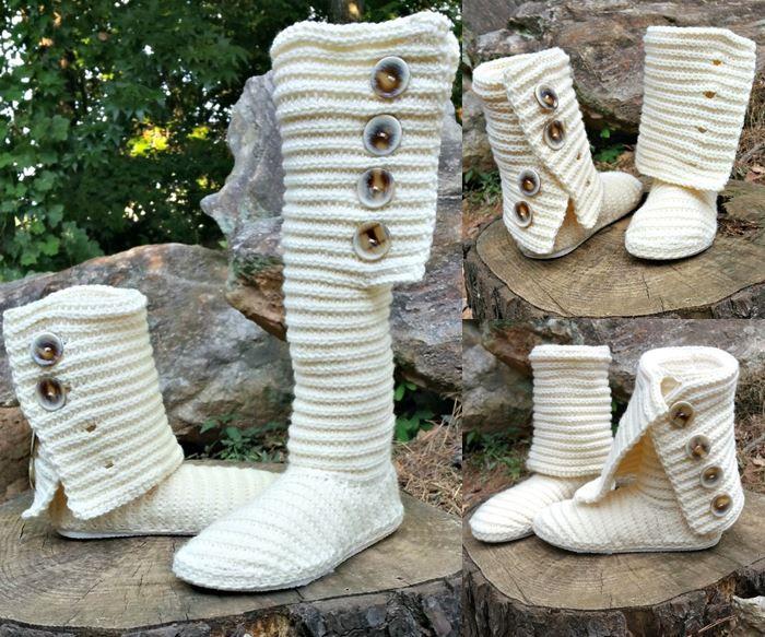 Crochet Boot, Crochet Shoes, Crochet Booties pattern.