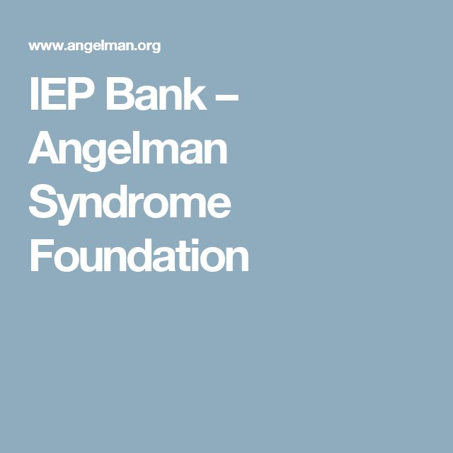 IEP Bank – Angelman Syndrome Foundation