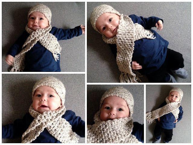 Lindevrouwsweb: Gehaakte Babymuts en sjaal