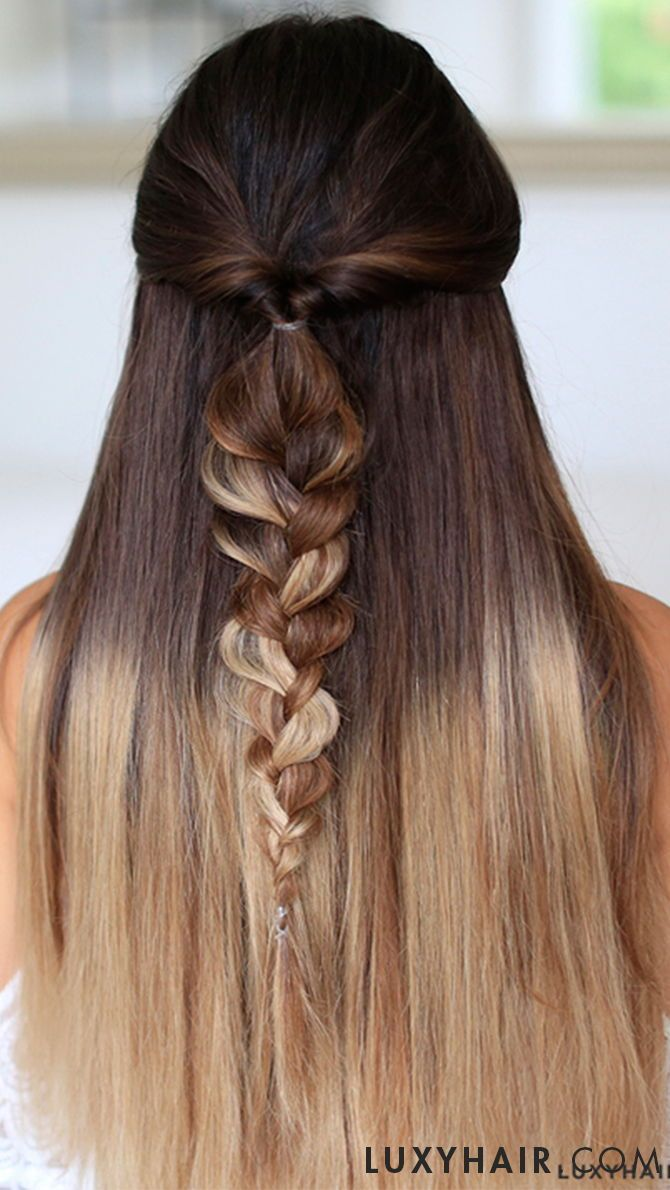 Seamless ombre blonde t