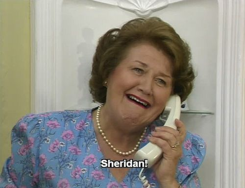 "The ""Bouquet"" residence! The lady of the house speaking.  Patricia Routledge, such a gem of comedy, her facial expressions alone make me laugh. Brilliant writing, great tv series Keeping Up Appearances."