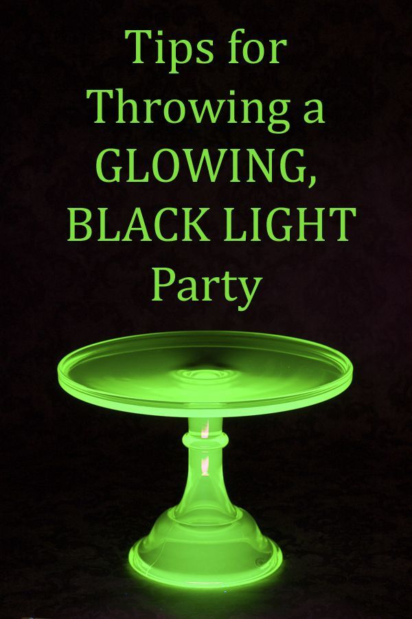 Great tips for throwing a black light party (post is for a Halloween party, but tips work for whatever)
