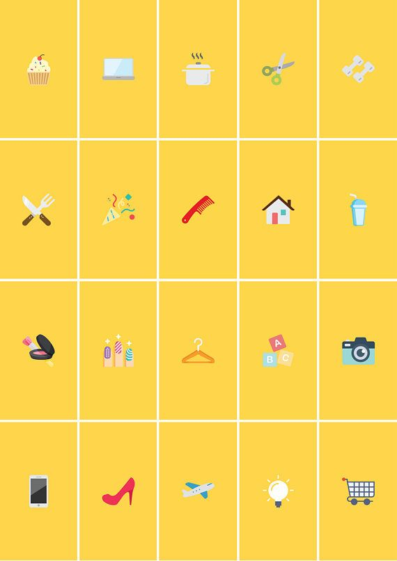 Instagram Stories Highlight Covers In Yellow Background Objek