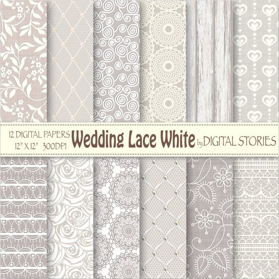 wedding lace digital paper wedding lace white white gray wedding bridal patterns for scrapbooking invites cards