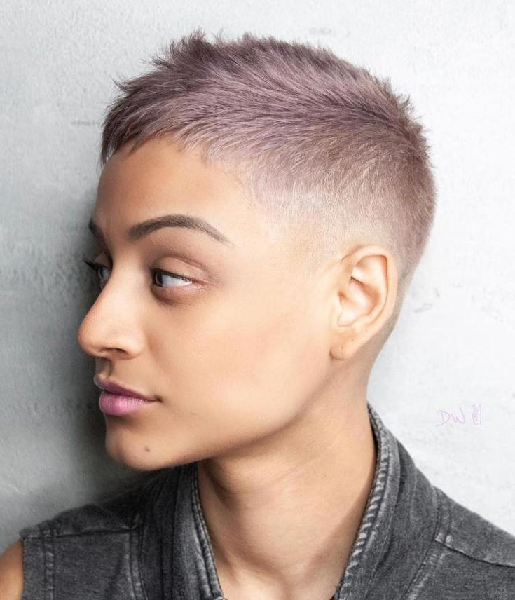 Pastell Mid Fade Crew Cut #pixiecuthairstyles