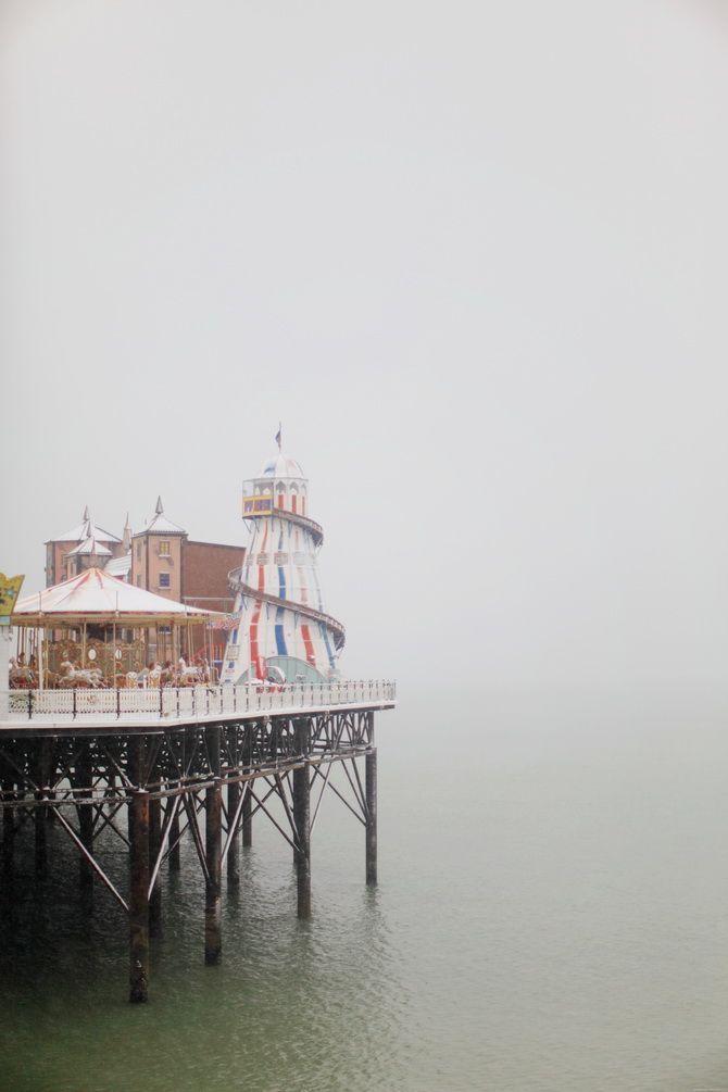 Brighton Pier in the snow