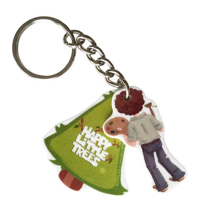Bob Ross Keychain - Happy Little Trees - Officially licensed product. by PeachyApricot on Etsy https://www.etsy.com/listing/238148346/bob-ross-keychain-happy-little-trees