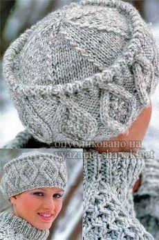 Шапка Кубанка спицами и крючком — красивая модель с аранами | ВЯЗАНИЕ ШАПОК: женские шапки спицами и крючком, мужские и детские шапки, вязаные сумки