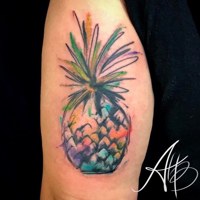 as 25 melhores ideias de pineapple tattoo no pinterest tatuagem pequena tatuagens e tatuagens. Black Bedroom Furniture Sets. Home Design Ideas