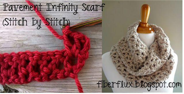 How to crochet the Pavement Infinity Scarf, stitch by stitch!