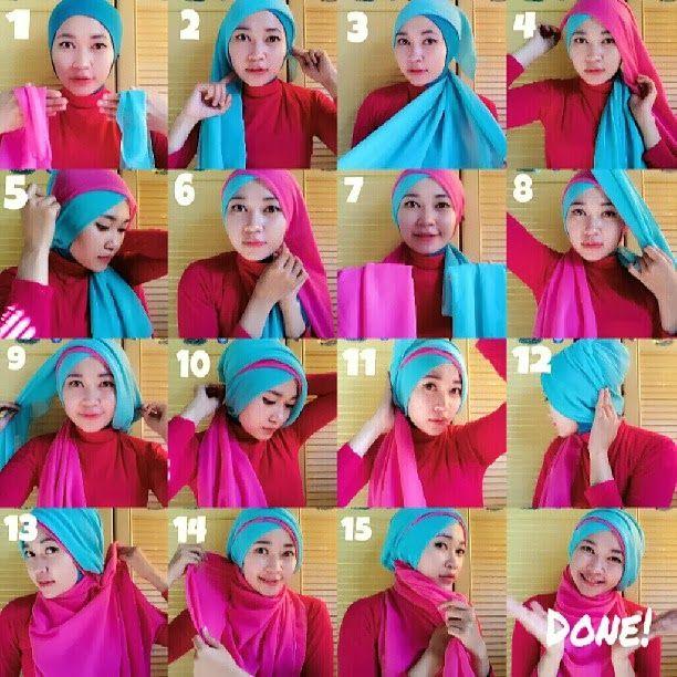 RANNI ASMARADANI: tutorial hijab: kerudung paris 2 warna by azmielsa...