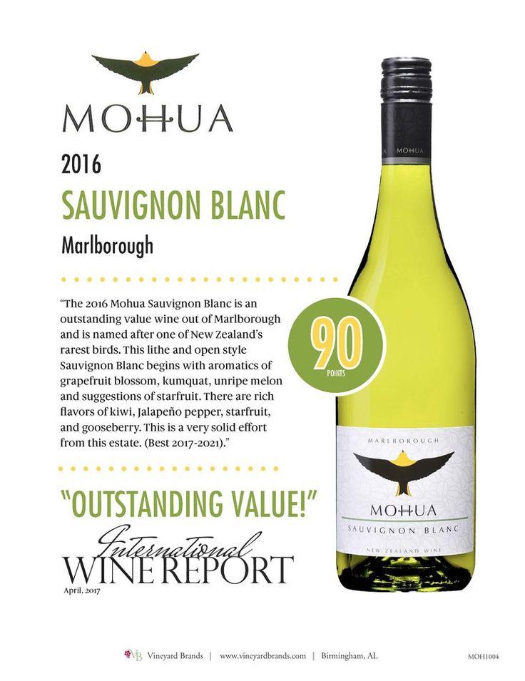 Mohua Sauvignon Blanc 2016 - 90 points -OUTSTANDING VALUE - International Wine Report