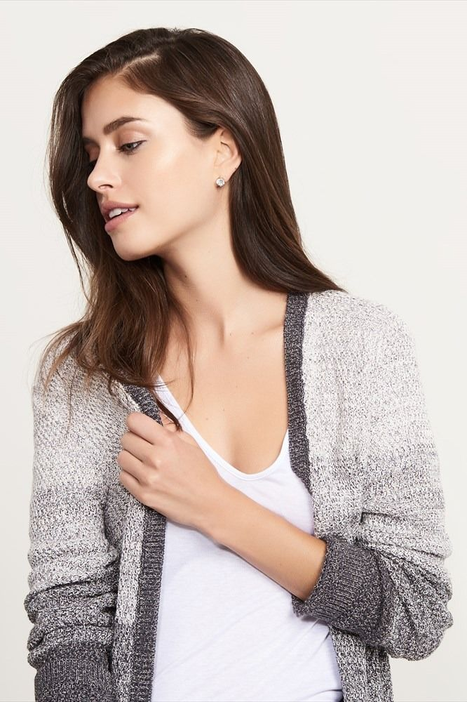 For those cool summer nights Knitted Open Front Cardigan