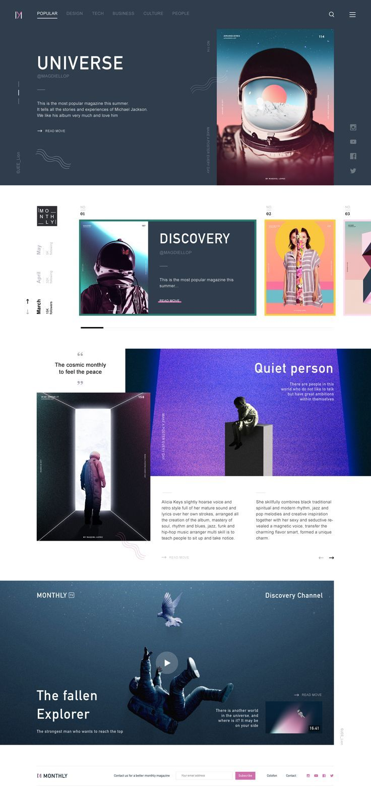 Simple Layout Design Inspiration For Powerpoint Template Pretty Web Design Web Layout Design Science Web
