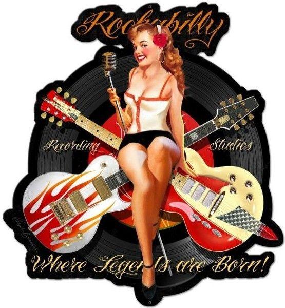 Plaque métal déco Rockabilly guitare sur Retro Wheels : https://www.retrowheels.fr/plaques-metalliques/366-plaque-metal-rockabilly-guitare.html