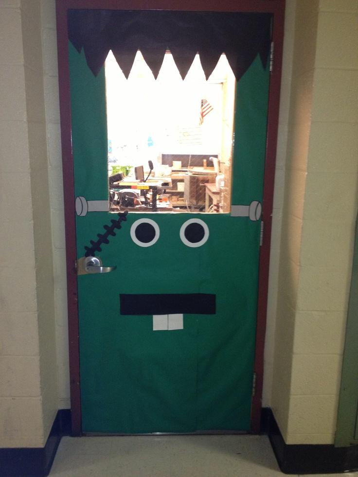 My Halloween door decoration for my classroom: Frankenstein!