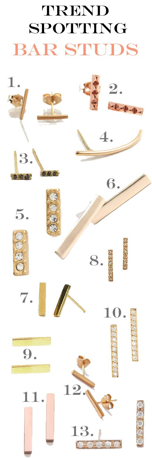 Trend Spotting: Bar Earrings