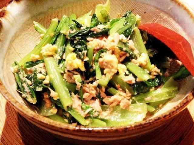 フライパン1個で♪和風小松菜サラダ♪の画像