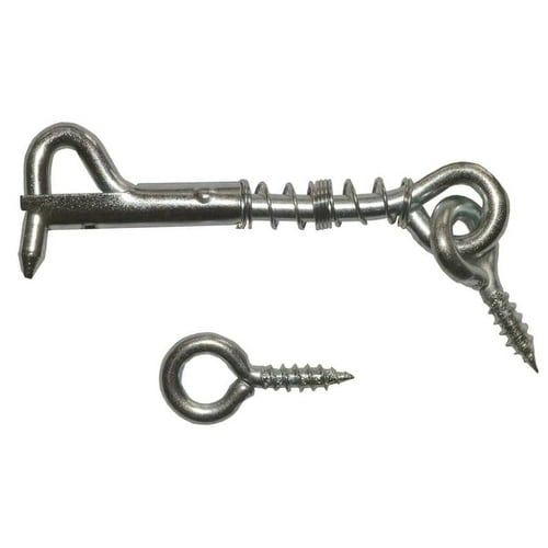 Prosource LR-411-PS Safety Gate Hooks And Eyes, Zinc (Grey) Plated, 2-1/2
