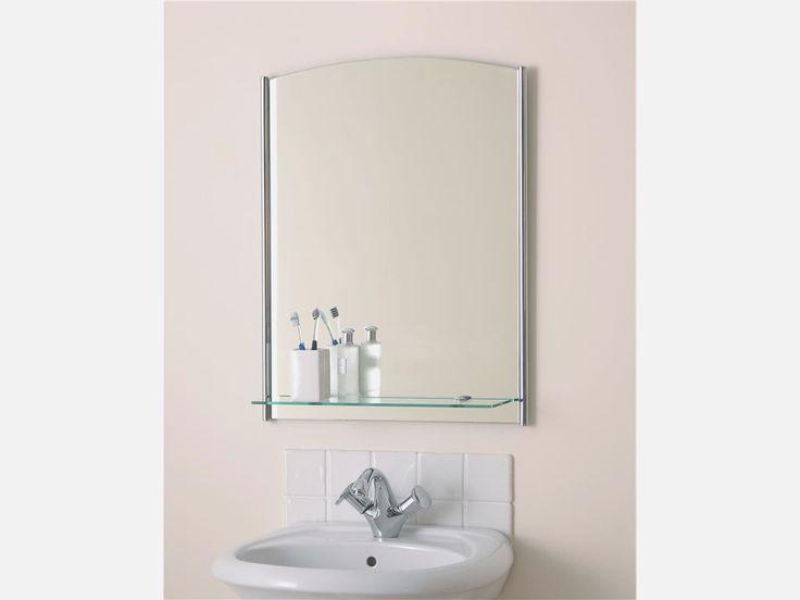 Contemporary Bathroom Mirror With Shelf