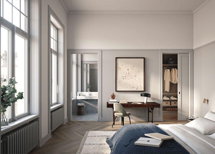 Warm grey bedroom