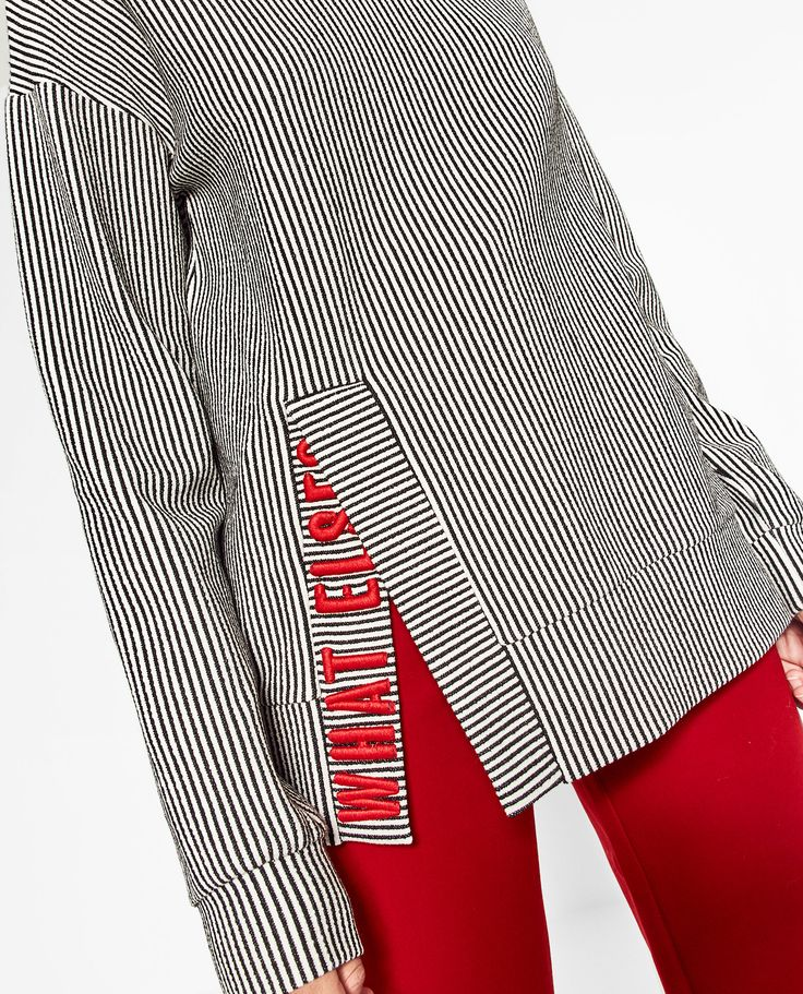 EMBROIDERED TEXT SWEATSHIRT                                                                                                                                                                                 More