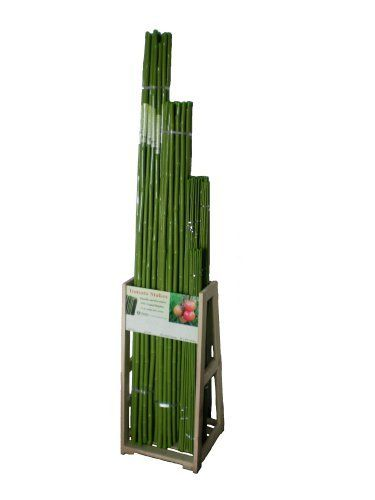Plant Stakes Rack With 3 4 5 6 Pvc Coated Bamboo Stakes 400 x 300